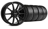 MMD Staggered Axim Gloss Black Wheel & Tire- 19x8.5/10 (05-14 All)