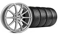 MMD Staggered Axim Silver Wheel & SumTire- 19x8.5/10 (05-14 All)