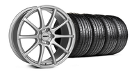 MMD Staggered Axim Silver Wheel & Tire - 20x8.5/10 (05-14 All)