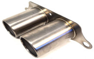 AGENCY POWER TITANIUM EXHAUST BRUSHED TIPS PORSCHE 997 GT3 GT3RS 07-12