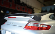 AGENCY POWER CARBON FIBER TYPE II ADD-ON REAR WING PORSCHE 997 TT 07-12