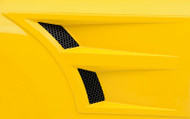 3d Carbon Front Fender Vents - Series II 2005 - 2009 Mustang