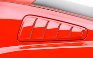 3D Carbon Window Louvers 2010-2014 Mustang