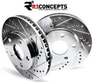 R1 Concepts E-Line Drilled/Slotted Rear Brake Rotors For 2008-13 BMW 128i / 135 [E82]