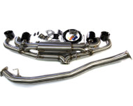Agency Power Electronic Valve Controlled 90mm Exhaust Muffler with Black Tips Nissan R35 GT-R 09-16