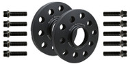 Wheel Spacer Kit by Burger Tuning BMS for VW, Audi, Skoda, Seat Extended Black Ball Seat Bolts Included
