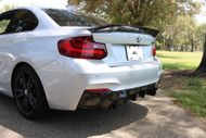 Dinmann BMW F87 M2 and 2 series F22 Carbon Fiber Trunk Lip in 2x2