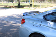 Dinmann BMW F82 M4 Carbon Fiber Trunk Lip in 2x2