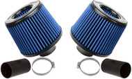 BMS N54 Dual Cone Intake w/ Blue Filters