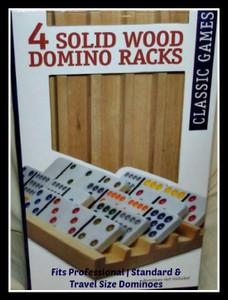 Set of four wood domino racks