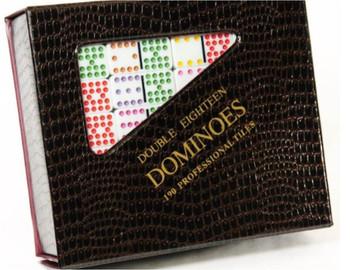 double 18 dot dominoes