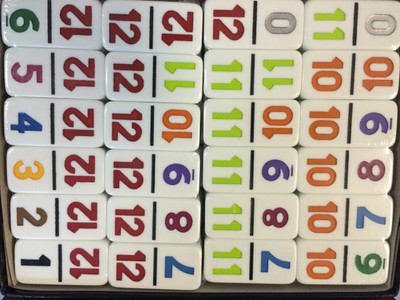 Double 12 Dominoes with Numbers