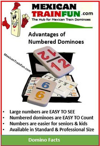 double 18 numbered dominoes