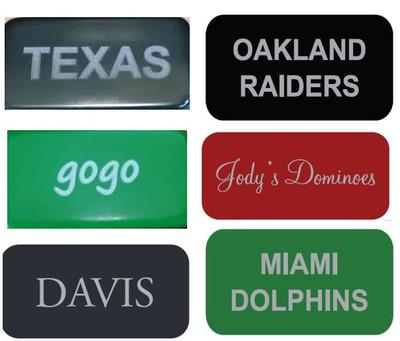 Engraved dominoes