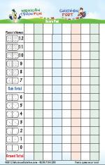 domino scorepad for mexicantrain dominoes