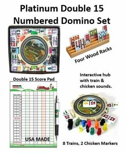 Mexican Train Fun Double 15 Ultimate Numbered Domino Set