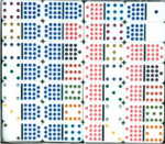 Double 15 Dot Dominoes