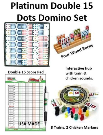 Platinum Double 15 Dot Domino Set