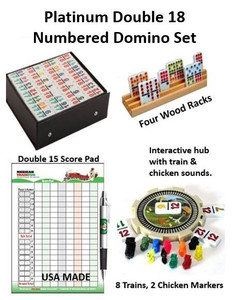 Platinum Double 18 Numbers Domino Set