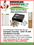 Double 18 dot domino set with free shipping