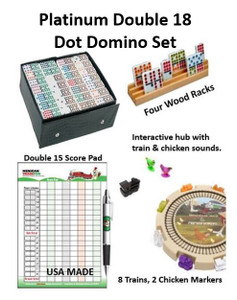 Mexican Train Fun Ultimate Double 18 Dot Domino Set