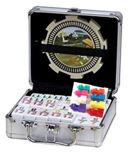 mexican train dominoes aluminum case