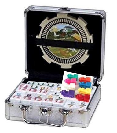 mexican train dominoes aluminum case