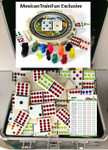 Custom mexican train domino set with dots