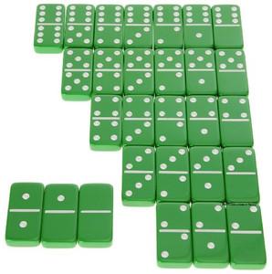 double six jumbo dominoes green