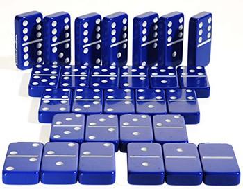 Jumbo dominoes double six blue