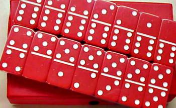 jumbo dominoes red