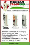 Dimensions for Jumbo Size Dominoes