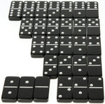 jumbo six black dominoes