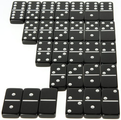 jumbo six black dominoes