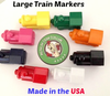 Large train markers