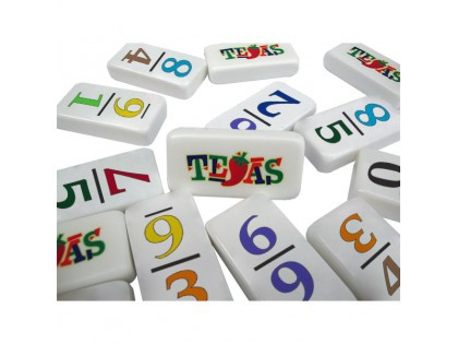 Customized Professional Size Double 9 Dominoes -Numbers