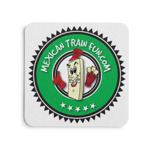 mexican train fun drink coaster