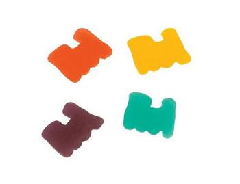 Train shaped gummies