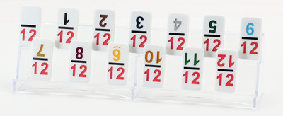 Mexican Train Dominoes Acrylic Tile Rack