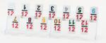 Mexican Train Dominoes Acrylic Tile Rack