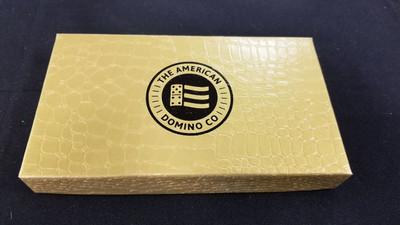 jumbo six Green dominoes with gold box