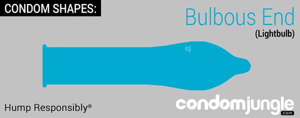 condom shape - bulbous end - Lightbulb shape