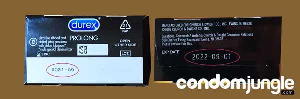 Condom Expiration Date - Retail Box