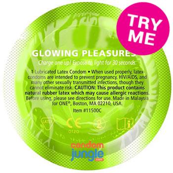 glowing pleasures condoms