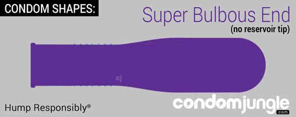 condo shape - super bulbous end with no reservoir tip
