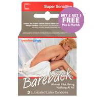 Contempo Bareback  Condoms. Buy 2, Get 1 Free!