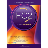 A front side image of FC2 Female Condom retail box.