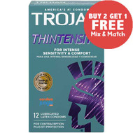 Trojan Thintensity Condoms - Buy 2, Get 1 Free.