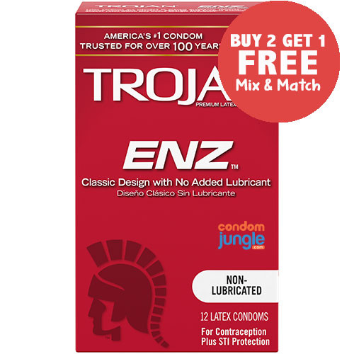 Trojan ENZ Non-Lubricated Condoms - Buy 2, Get 1 Free
