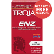 Trojan ENZ Non-Lubricated Condoms - Buy 2, Get 1 Free